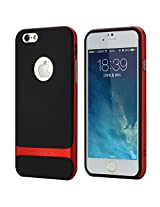 Rock Classic Shell Hybrid Double Layer Shock Absorbing Armor Defender Case Cover for 5.5 inch Screen Apple iPhone 6 Plus+ (SCREEN GUARD PROTECTOR) - RED