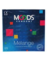 Moods Melange Condoms, Unflavored 3 pieces/pack