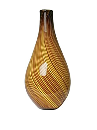 Dynasty Glass Roma Collection - Vase - Yellow