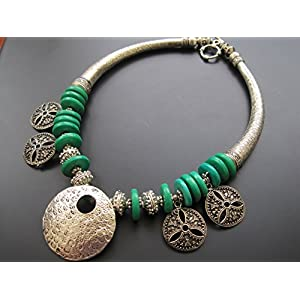 Dreamz Jewels Tribal Necklace In Green