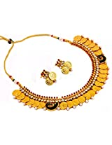 Megh Craft Women Exclusive One Gram Gold Plated Temple Necklace Set Peacock Jewellery