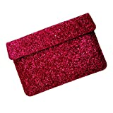 I-KitPit : PU Glitter Sparkling Leather Pouch Case For Alcatel One Touch Tab 7 Dual Core (SHINY PINK)