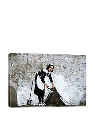 Banksy Maid In London Giclée On Canvas