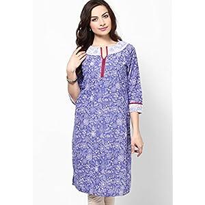 Cotton Purple Printed Kurta