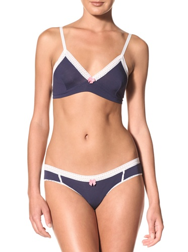 Between The Sheets Women's Come Out & Play Bikini (Navy)