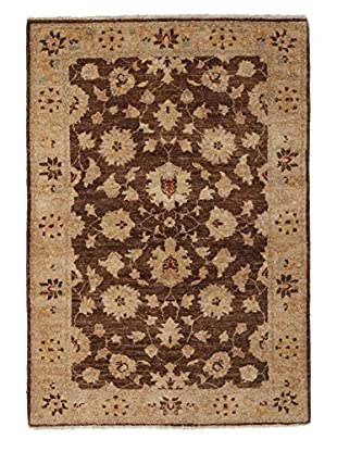 Solo Rugs Traditional Oriental Rug, Brown, 3' 4