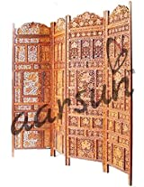 Aarsun: Hand Carved Wooden Partition Screen in Sheesham Wood/ Room Divider