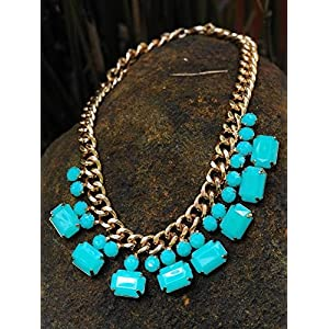 Little Things Iridescent Blue Stone Necklace