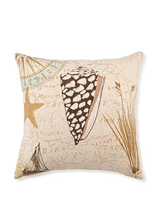 """Kathryn White Sea Shell Pillow, 16"""" x 16"""""""