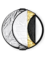 Neewer 43 inch/110 cm 5-in-1 Portable Round Multi Camera Lighting Reflector/Diffuser Kit with Grip and Carrying Case for Photpgraphy