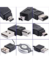 Generic 6in1 USB Adapter Travel Kit Cable to Firewire IEEE 1394