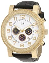 Joshua & Sons Men's JS-07-YG Stainless Steel Chronograph Strap Watch