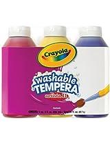 Crayola 3 Count 8-Ounce Artista II Washable Tempera Primary Color Set