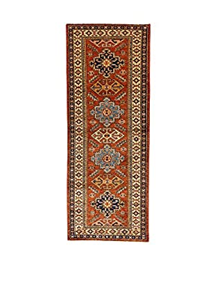L'Eden del Tappeto Teppich Super Kazak braun/dunkelblau 207t x t79 cm