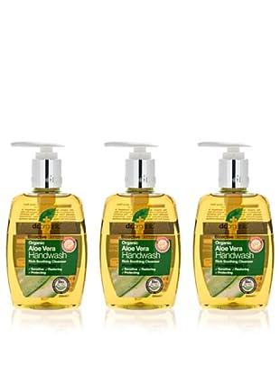 Dr.Organic Set 3 Jabones Líquidos de Manos de Aloe Vera 250Ml (u)