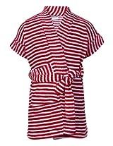 Babyhug Terry Bath Robe Red - Stripes