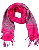 MALTDZ Women's Cashmera and Silk Pashmina Scarf (Pink)