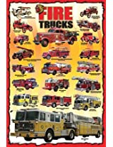 Eurographics EUROKIDS-0239 Jigsaw Puzzle 100 Pieces 13 in. x 19 in.-Vintage Fire Engines