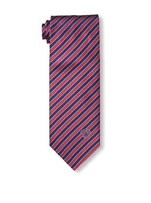 Versace Men's Striped Tie, Red/Dark Blue