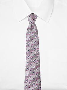 Emilio Pucci Men's Waves & Stripes Tie, Grey/Purple