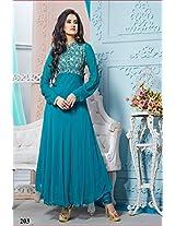 Khantil Unique Designer Rama Green Colored Anarkali Suit