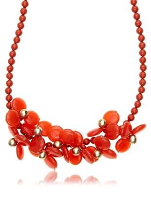 Cortefiel Collar Hojas Pasta (Rojo)