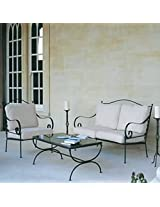Essentially Metal Sofa Set with Off White Upholstery - Moroccan