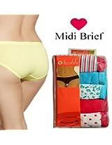 Seasons Hushh Pack Of 5 Midi Brief Panties B110B1103ND_Multi