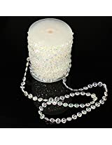 30m Wedding Curtain Diamond Iridescent Acrylic Crystal Beads Strand Party Decor