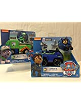 Paw Patrol Rockys Recycling Truck AND Paw Patrol Chasess Spy Cruiser