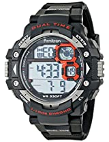 Armitron Sport Men's 40/8309RED Grey Cased Digital Watch With Black Resin Band