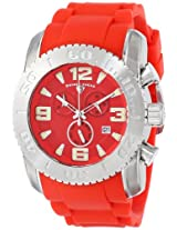 Swiss Legend Men's 10067-05 Commander Stainless Steel Watch with Red Band