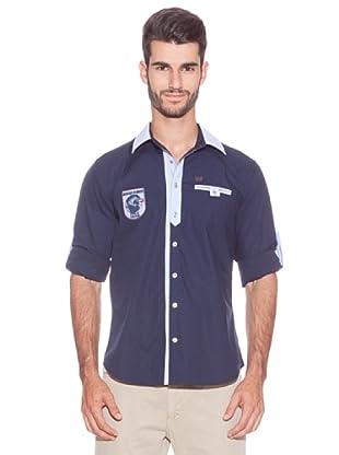 Giorgio Di Mare Camisa Corona (Azul Marino)