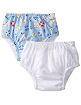 i play Baby Boys' Classics Ultimate Snap Swim Diaper 2 Pack Lifesaver 18 24 Months, White/Light Blue, X Large