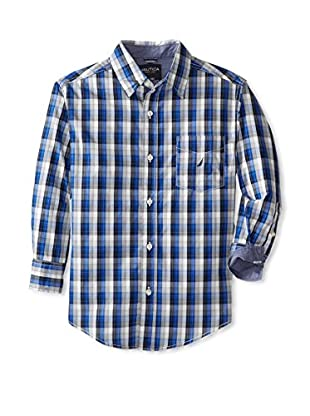 Nautica Boy's Long Sleeve Plaid Shirt
