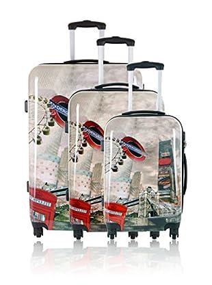 Travel ONE Set de 3 trolleys rígidos Bingley 2 Multicolor