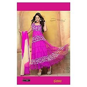 Wholesale Dunia Pink Anarkali