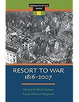 Resort to War (1816 - 2007) (Correlates of War Series)