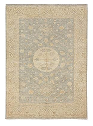 eCarpet Gallery One-of-a-Kind Hand-Knotted Peshawar Oushak Rug, Cream/Grey, 5' 1