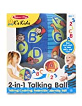 Melissa & Doug K's Kids 2-in-1 Talking Ball Learning Toy