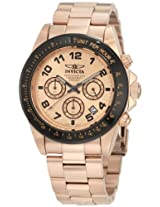 Invicta Men's 10705 Speedway Chronograph Rose Dial 18k Rose Gold Ion-Plated Stainless Steel Watch