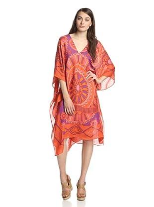 Theodora & Callum Women's Phoenix Caftan (Orange Multi)
