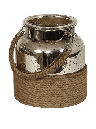 Sidney Marcus Flacon Mercury Glass Candle Holder, Polished Nickel