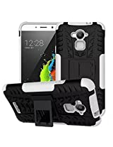 Febelo Branded Kickstand Armor Dual Protection Back Cover Case For Coolpad Dazen Note 3 - White Color