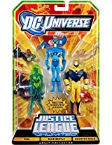 DC Universe Justice League Unlimited Exclusive Action Figure 3-Pack Blue Beetle Fire & Booster Gold