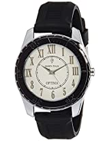 Optima Analog White Dial Men's Watch - FT-ANL-2520