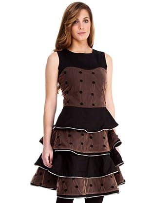 Almatrichi Vestido Muselina (negro / chocolate)
