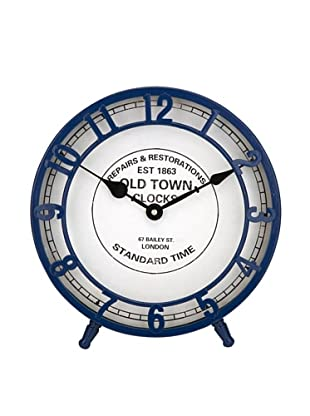 Essentials Face Clock, Marine Blue