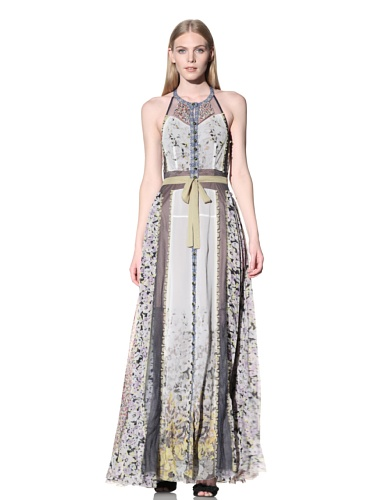 Byron Lars Women's Mixed Floral Printed Maxi Dress (Daffodil)