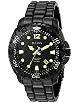 Bulova Precisionist Analog Black Dial Men's Watch - 98B242